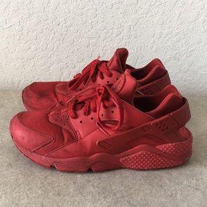 ✅Men Nike Huarache Red Sneakers Size 10.5